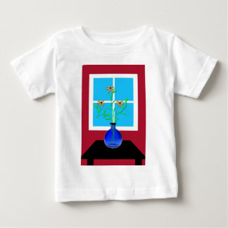Blue Vase with Flowers Baby T-Shirt
