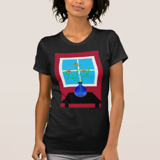 Blue Vase with Flowers T-Shirt