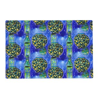 Blue Vases Design on Placemats