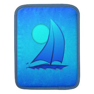 Blue Vector Sailboat iPad Sleeve