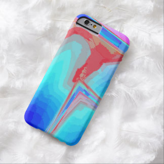 Blue veining iPhone 6 case with pink