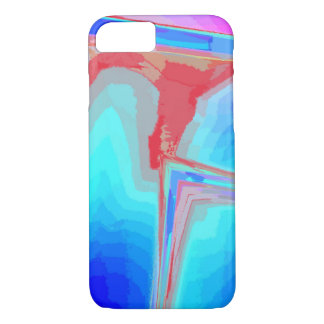 Blue veining iPhone 7 case with pink