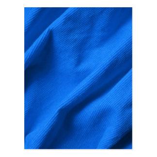 Blue velvet design postcard
