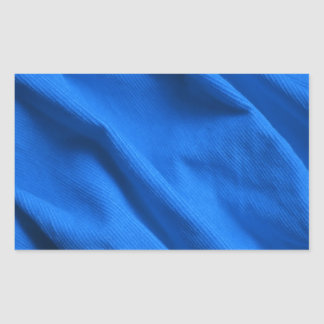 Blue velvet design rectangular sticker
