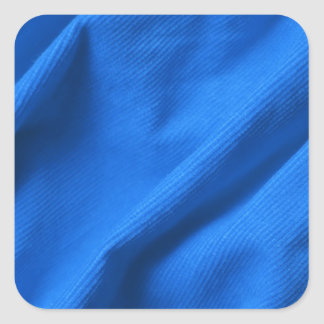 Blue velvet design square sticker