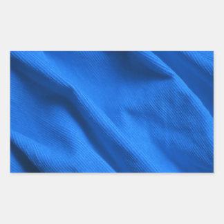Blue velvet design rectangular sticker
