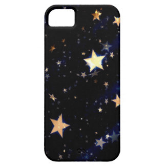 Blue Velvet Effect Stars iPhone SE/5/5s Case