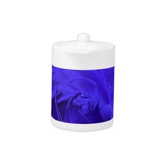 Blue Velvet Rose Teapot