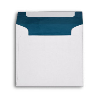 Blue Velvet Textured Lining Square Envelope