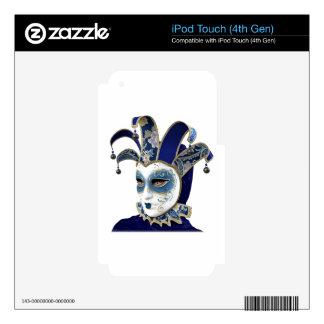 Blue Venetian Carnivale Mask in Profile Skin For iPod Touch 4G