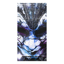 Blue Venetian Mask Worn by the Gypsy of the Moon Card