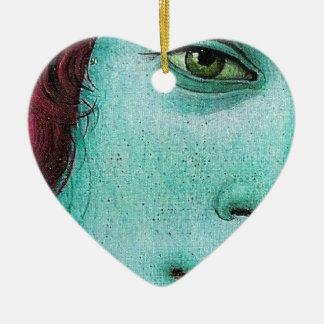 blue venus ceramic ornament