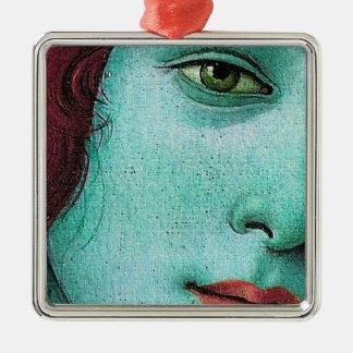 blue venus metal ornament
