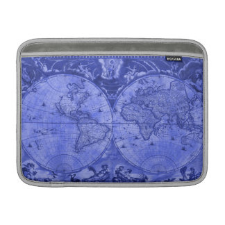 Blue Version Antique World Map J Blaeu 1664 MacBook Air Sleeves