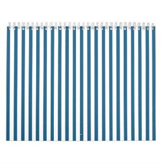 Blue Vertical Stripes Calendars