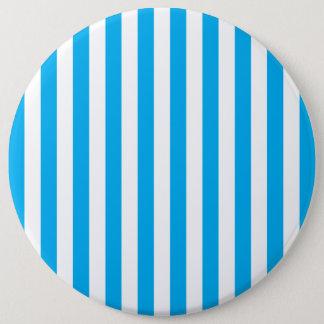Blue Vertical Stripes Pinback Button