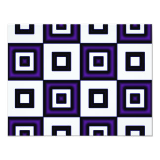 Blue Vertigo Checkers Card