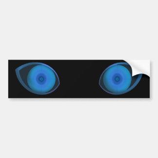 Blue Very Evil Eyes Car Bumper Sticker