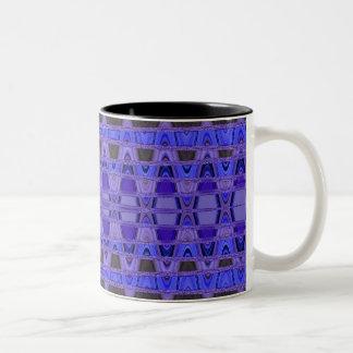 Blue Vibes Two-Tone Coffee Mug