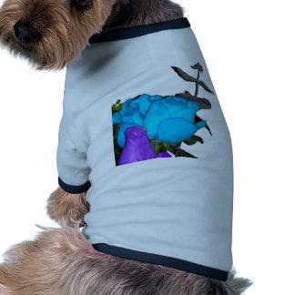 blue vibrance purple vibrance roses pet t-shirt