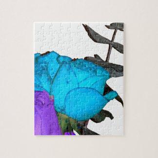 blue vibrance purple vibrance roses jigsaw puzzle