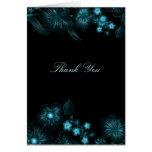 Blue Vibrant Night Floral | Thank You Card