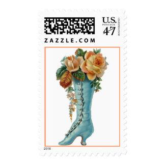Blue Victorian Ladies Boot Postage