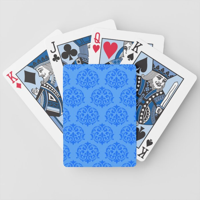 Blue Victorian Pattern Playing Cards