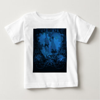 BLUE VICTORIAN STEAMPUNK LOVE COUPLE BABY T-Shirt
