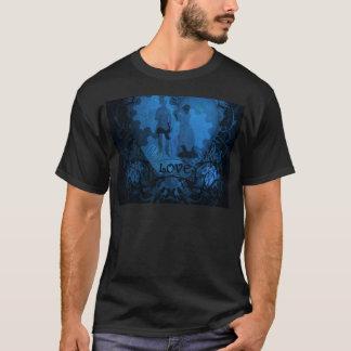 BLUE VICTORIAN STEAMPUNK LOVE COUPLE T-Shirt