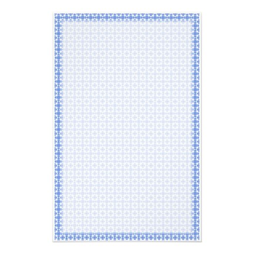 Blue Victorian Weave Stationery