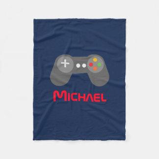 Blue Video Game Controller Fleece Blanket