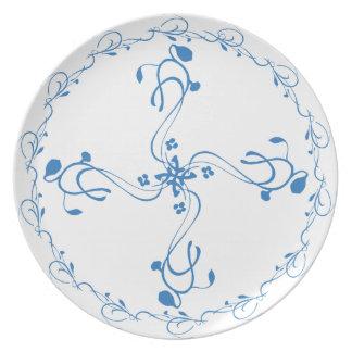 Blue Vine 4 Way Split Portion Control Plate