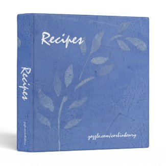 Blue Vine Recipe Binder