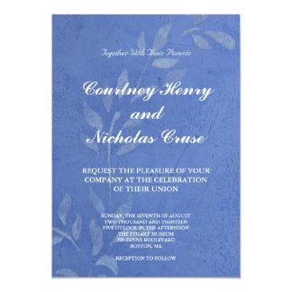 Blue Vine Wedding Invitation