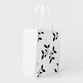 Blue Vines Shopping Bag Market Tote