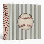 Blue Vintage Baseball Binder