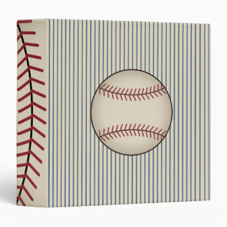 Blue Vintage Baseball Card Binder Gift