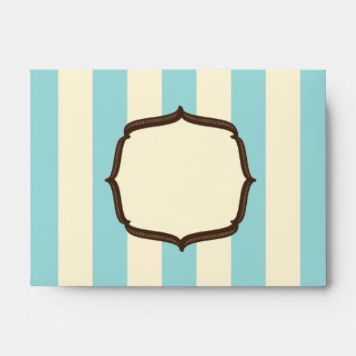 Blue Vintage Circus Envelope - Jill's Paperie