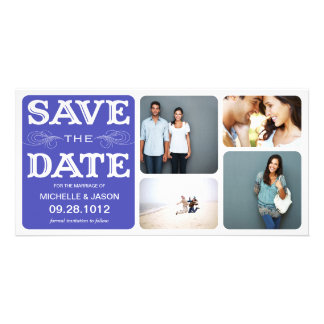 BLUE VINTAGE COLLAGE | SAVE THE DATE ANNOUNCEMENT