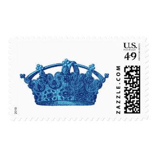 Blue Vintage Crown A002 Stamp
