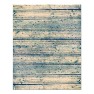 Blue Vintage Dual Toned Planked Scrapbook Paper