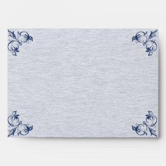 Blue Vintage Elegance Wedding Envelope