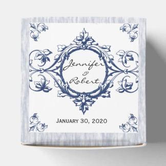 Blue Vintage Elegance Wedding Favor Box