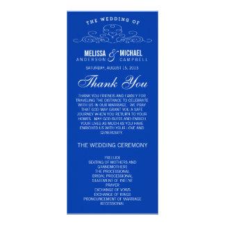BLUE VINTAGE ELEGANCE | WEDDING PROGRAM RACK CARD DESIGN