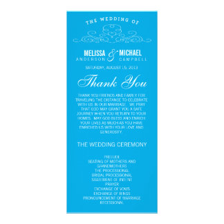 BLUE VINTAGE ELEGANCE | WEDDING PROGRAM RACK CARDS