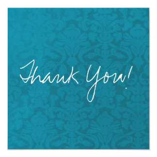 Blue Vintage Flat Thank You Cards