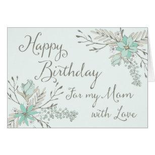 Happy birthday mom cards greeting photo cards zazzle blue vintage floral mom happy birthday card bookmarktalkfo Gallery