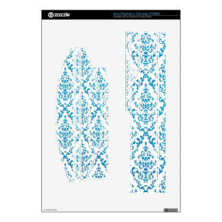 Blue Vintage Flowers Skin For The PS3 Console