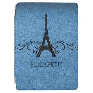 Blue Vintage French Flourish iPad Air Cover